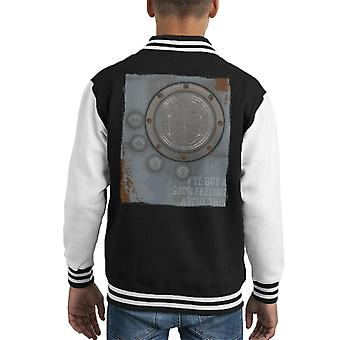 The Crystal Maze Lighter Good Feeling Rust Panel Kid's Varsity Jacket