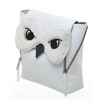 Harry Potter Backpack Bag Hedwig Owl Face Mini flap over new Official White