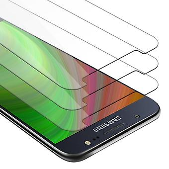 Cadorabo 3x Tank Foil for Samsung Galaxy J5 2016 - Protective Film in KRISTALL KLAR - 3 Pack Tempered Display Protective Glass in 9H Hardness with 3D Touch Compatibility
