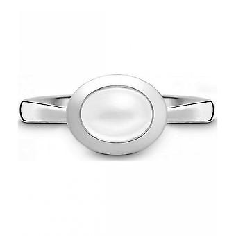 QUINN - Ring - Damen - Silber 925 - Edelstein - Mondstein - Weite 56 - 2151369