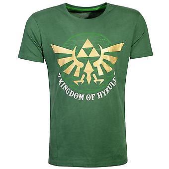 Legenden om Zelda Golden Kingdom of Hyrule T-skjorte mann stor grønn TS167041ZEL-L
