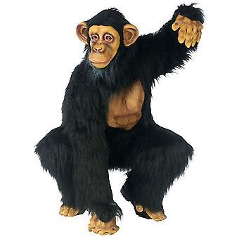 Chimpansee Deluxe Chimp Ape bonobo wild dier Afrikaanse jungle volwassen mens kostuum