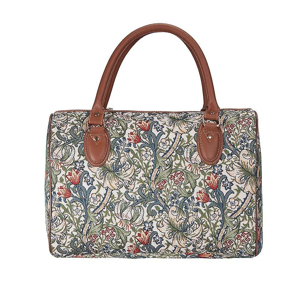 William morris - golden lily travel bag by signare tapestry / trav-glily