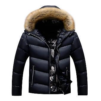 Allthemen Men's Solid Gezt Dickmantel Winter Warm Slim Fit Outwear Hoodies