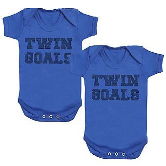 Twin Goals Baby Bodysuit - Baby Gift Twin Set