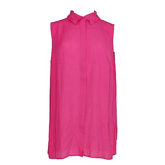 Joan Rivers Classics collectie vrouwen ' s top L mouwloos blouse roze A291876