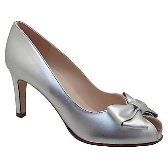 Peter Kaiser Stila Silver Peep Toe Court Shoes