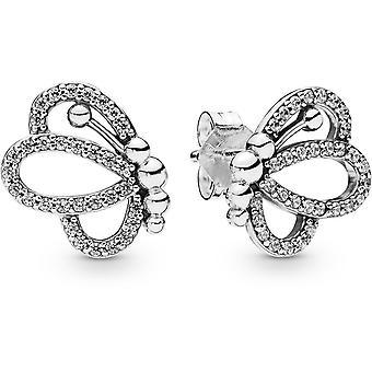 Orecchini Pandora animali 297912CZ - siluette della farfalla ajour s argento orecchini