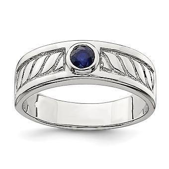 925 Sterling Silver Mens Blue Sapphire Ring Jewelry Gifts for Men - Ring Size: 9 to 11