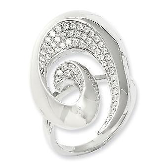 925 plata esterlina Rhodium plateado y CZ Cubic Zirconia simulado diamante fantasía anillo joyería regalos para las mujeres - anillo Siz