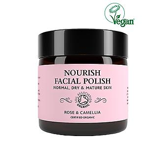Botanicals Natural Organic Skincare Nourish Face Polish Rose and Camelia 60g Normal, Dry a