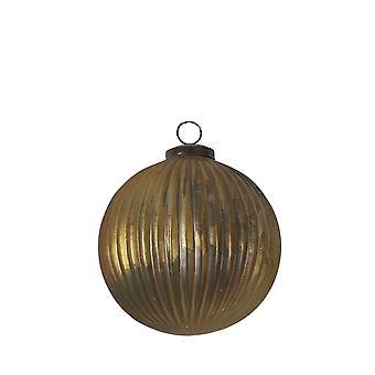 Light & Living Christmas Bauble 12cm Matt Glass Gold
