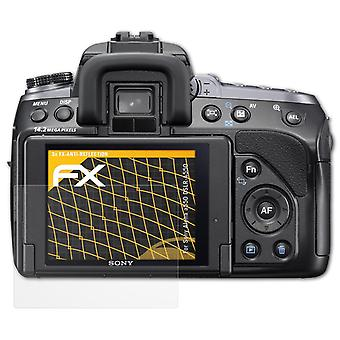atFoliX Glass Protector compatible with Sony Alpha a550 DSLR-A550 9H Hybrid-Glass
