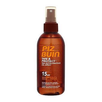 Bronzeamento óleo bronzeado e proteger Piz Buin