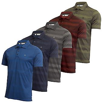 Calvin Klein Mens 2021 Shadow Stripe Lichtgewicht Wicking Golf Polo Shirt