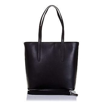 FIRENZE ARTEGIANI. Women's bag in real leather. Woman's bag end shoulder in real leather Tamponato.Asa long. Detachable strap. MADE IN ITALY. REAL ITALIAN SKIN. 30x30x13 cm. color: black