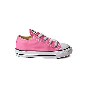 Converse Chuck Taylor All Star 7J238C Pink Canvas Childrens Unisex Lace Up Shoes