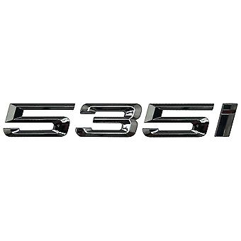 Silver Chrome BMW 535i Car Model Rear Boot Number Letter Sticker Decal Badge Emblem For 5 Series E93 E60 E61 F10 F11 F07 F18 G30 G31 G38