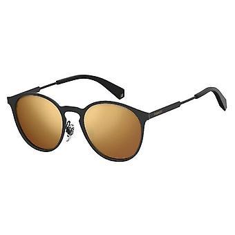 بولارويد جونيور PLD4053/S 807/LM الأسود/بولاريسيد رمادي الذهب مرآة النظارات الشمسية