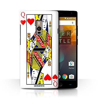 STUFF4/Housse pour OnePlus 2/deux/Queen of Hearts/jeu de cartes