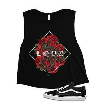Love Serpent Art Graphic Womens Crop Top
