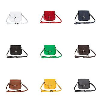 Zatchels Womens/Ladies Classic Hand-Crafted Leather Micro Saddle Bag (British Made)