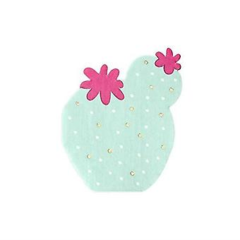 Cactus Party Paper Napkins x 20 - Tableware