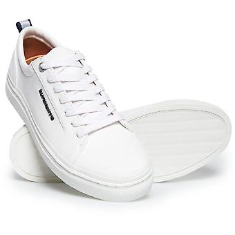 Superdry Truman Leather Lace Up Trainers White 39