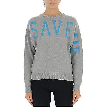 Alberta Ferretti 09155112j1502 Women's Grey Wool Sweater
