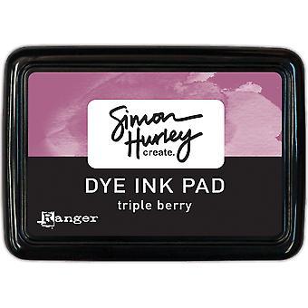 Simon Hurley create. Dye Ink Pad - Triple Berry