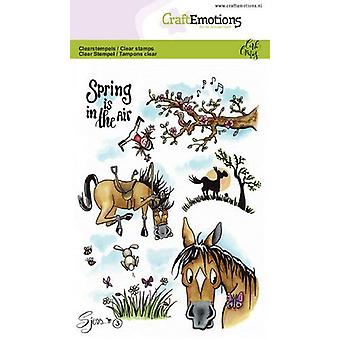 Craftemotions Clear Stamps A6 - Sjors 3 Spring Par Carla Creaties