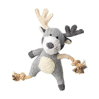 House Of Paws Bushy Tail Stag Rope Dog Toy