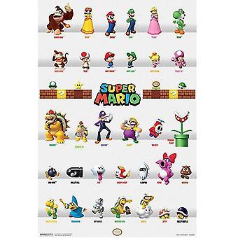 Super Mario, Maxi Poster - Characters
