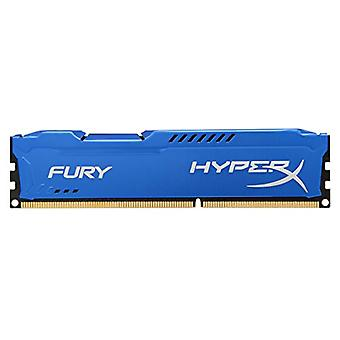 HyperX HX316C10F/8 Fury RAM memory for Desktop PC, 8 GB, 1600 MHz, DDR3, 1.5 volts, CL10, UDIMM, 1.35V, Blue