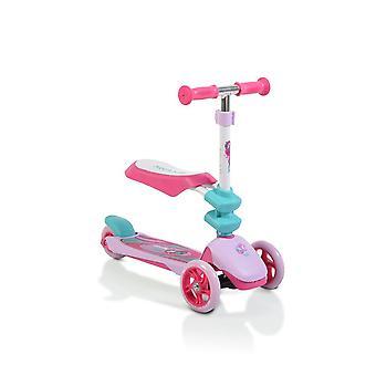 Scooter infantil Byox Epic 2 em 1, scooter & impeller, 3 rodas PU, dobráveis, a partir de 3 J