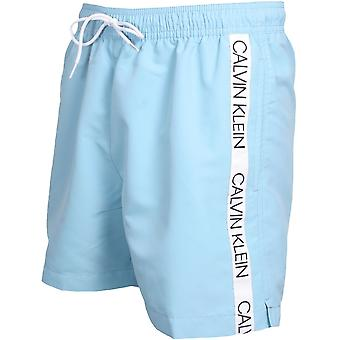 Calvin Klein Bonded Logo Tape Swim Shorts, Air Blue