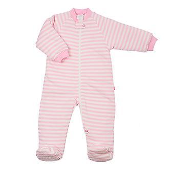 uh-oh! Bolsa de dormir del bebé con las piernas 3.0 tog calor calificación rosa stripe