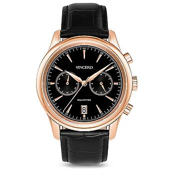 Vincero Watches Bla-rg-w20 The Bellwether Black & Rose Gold Men's Watch