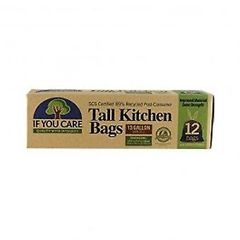 If You Care - 89% Recycled Tall Trash Bags 12 Pack