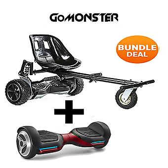 "6.5"" G PRO Red Bluetooth Hoverboard mit Go Monster Hoverkart in Schwarz"