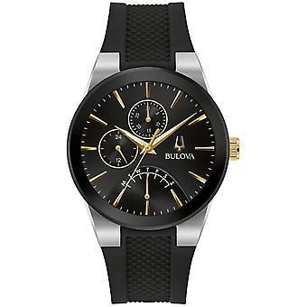 ブローバ 98C138 メン&アポス;s フューチュロ ブラック ラバー ストラップ 腕時計