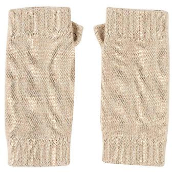 Johnstons of Elgin Wrist Warmer Gloves - Natural Beige