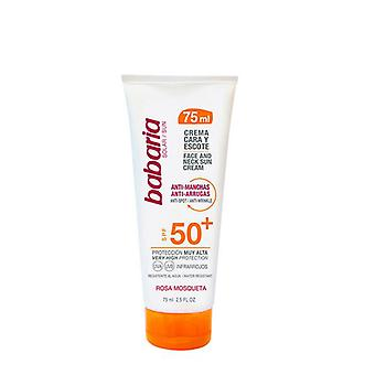 Anti Brown Spot Sun Lotion Cara & Escote Babaria SPF 50+ (75 ml)