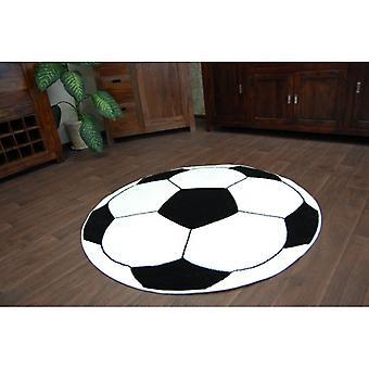 Rug bambini CIRCLE HAPPY calcio nero - bianco