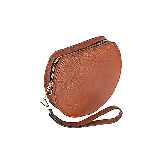 Hills & West Lunar Mini Wristlet Clutch Tan