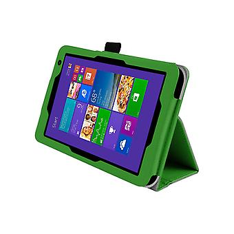 "Magnetic PU Leather Case Cover voor Toshiba Encore 2 WT8 8""[Groen]"