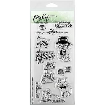 Picket Fence Studios Pretty Kitties Clear Stamps
