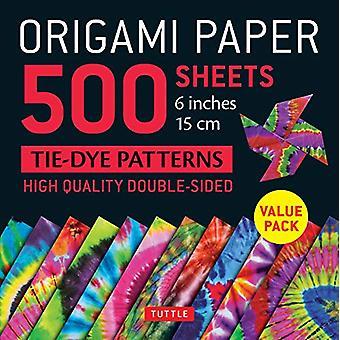 "Origami Paper 500 sheets Tie-Dye Patterns 6"" (15 cm) - Tuttle Ori"