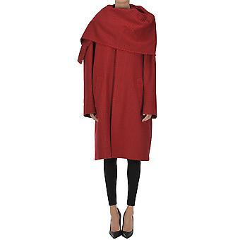 Balenciaga Ezgl006048 Women's Red Wool Coat