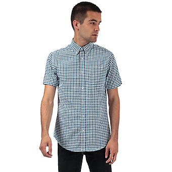 Men's Ben Sherman Haus kariert Kurzarm Shirt in blau
